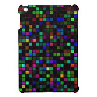 Colorful 'Meteor Shower' Squares Pattern Cover For The iPad Mini
