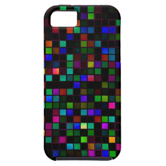 Colorful 'Meteor Shower' Squares Pattern iPhone SE/5/5s Case