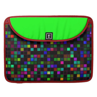 Colorful Meteor Shower Squares Pattern Sleeves For MacBooks