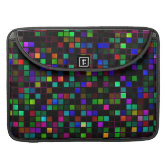 Colorful 'Meteor Shower' Squares Pattern Sleeves For MacBook Pro