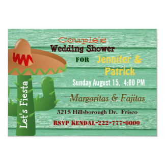 Colorful Mexican Fiesta Couple's Wedding Shower Card