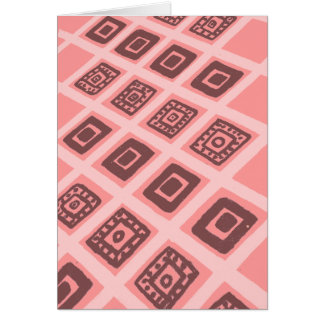 Colorful Mexican Geometric Pattern Card