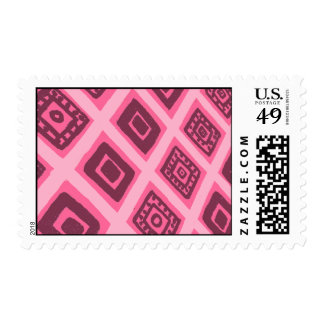 Colorful Mexican Geometric Pattern Stamp