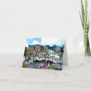 Kiosk cards zazzle colorful mexican kiosk note card m4hsunfo