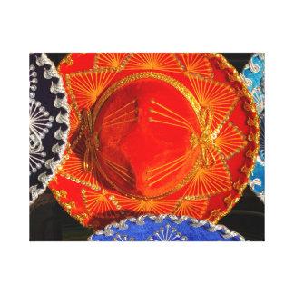 Colorful Mexican sombreros Canvas Print