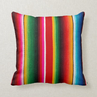 colorful mexican style throw pillow