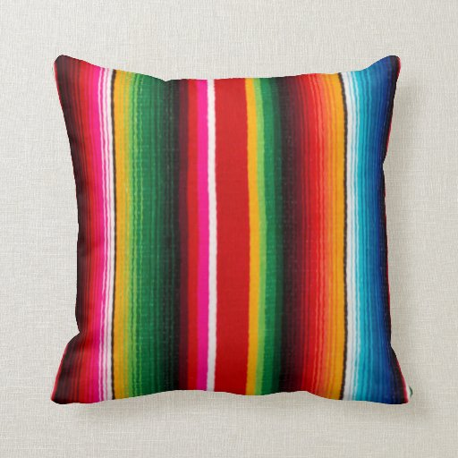 Colorful Mexican Style Throw Pillows Zazzle