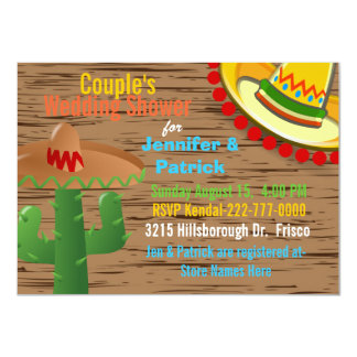 Colorful Mexican Themed Couple's Wedding Shower Card