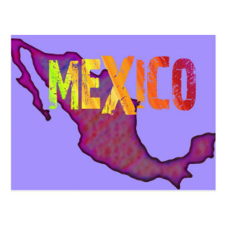 Colorful Mexico Postcard
