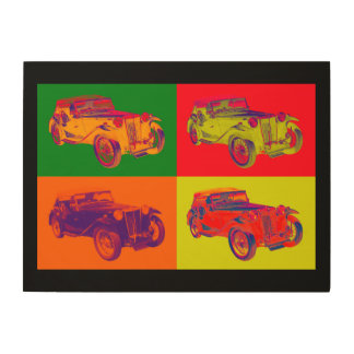 Colorful Mg Tc Antique Car Pop Art