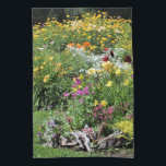 """Colorful Mid Summer Gardens! Hand Towel<br><div class=""""desc"""">Colorful Mid-Summer Gardens! ,   PhotOriginal.  PhotOriginals are photos from my beautiful northern Minnesota secret country cottage gardens. Geometric patterns are all derived from PhotOriginals. They are unique designs,  not sold through mass markets. They are named,  labeled and available individually and in sets. https://www.facebook.com/GHSNorthernGardens/ and http://www.ghsnortherngardens.com/ and https://www.zazzle.com/photoriginalsbyghs/products2</div>"""