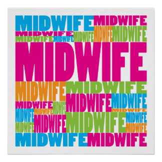 Colorful Midwife Poster
