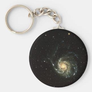 colorful milky way galaxy solar system basic round button keychain