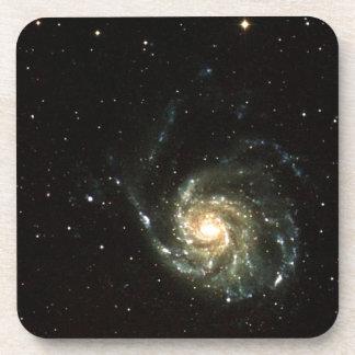 colorful milky way galaxy solar system drink coaster