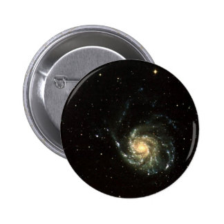 colorful milky way galaxy solar system pinback button