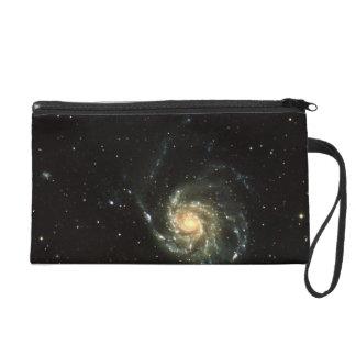 colorful milky way galaxy solar system wristlet purse