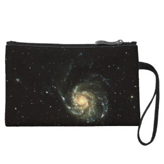 colorful milky way galaxy solar system wristlet wallet