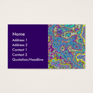 Colorful Mineral Business Card