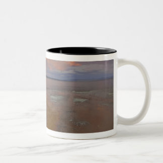 Colorful mineral deposits emit from Black Pool 2 Two-Tone Coffee Mug