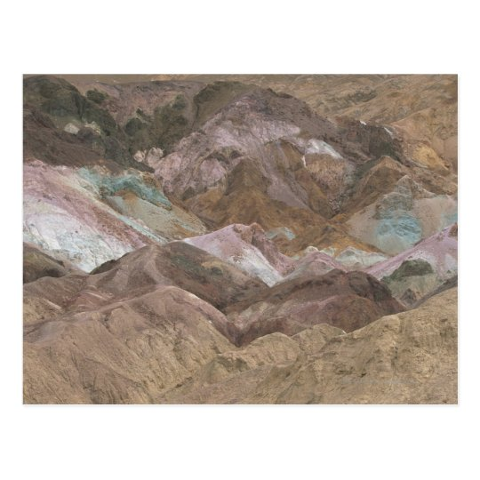 Colorful mineral deposits exposed at Artist's Postcard