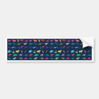 Colorful Mini Dinosaur Bumper Sticker