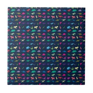 Colorful Mini Dinosaur Ceramic Tile