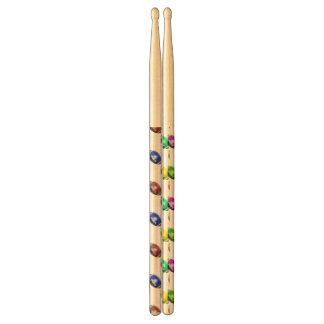 Colorful Mini Football Pattern Drum Sticks