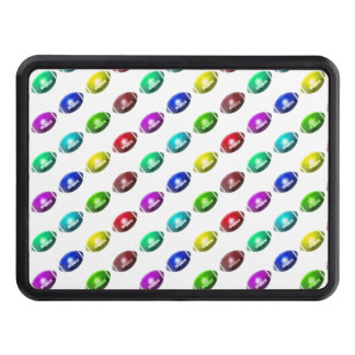 Colorful Mini Football Pattern Trailer Hitch Cover