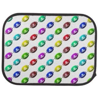 Colorful Mini Football Pattern Floor Mat