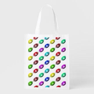 Colorful Mini Football Pattern Reusable Grocery Bag