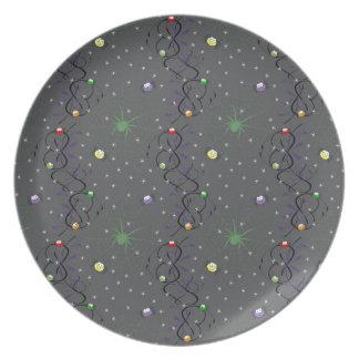 Colorful Mini Spiders Melamine Plate
