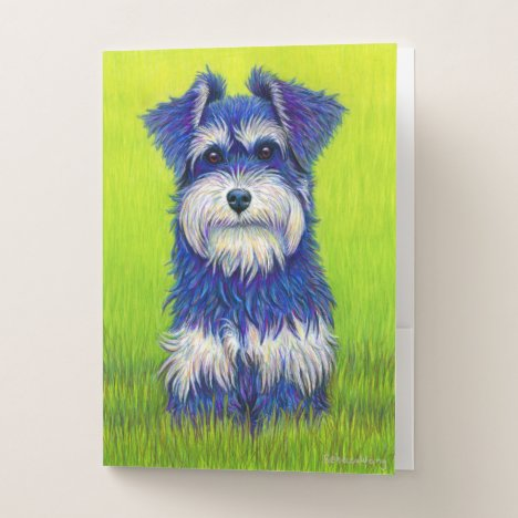 Colorful Miniature Schnauzer Dog Folders
