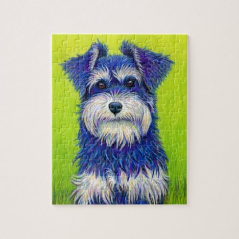 Colorful Miniature Schnauzer Dog Puzzle
