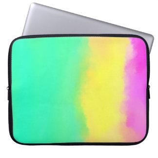 Colorful minimal abstract art computer sleeves