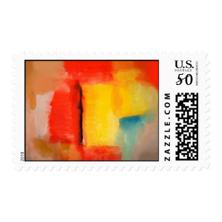 Colorful Minimalist Abstract Postage