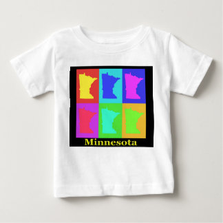 Colorful Minnesota State Pop Art Map T-shirt