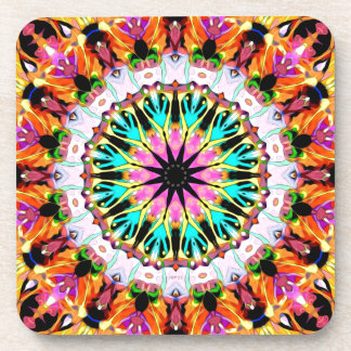 Colorful Mirror Abstract 2 Drink Coaster