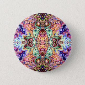 Colorful Mirror Image Abstract Pinback Button