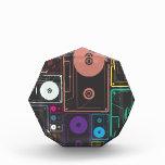 Colorful Mix Tapes Acrylic Award