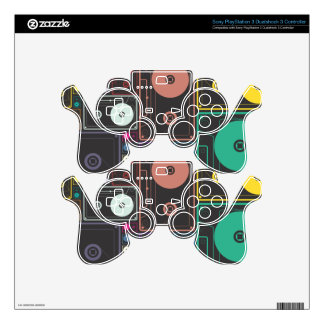Colorful Mix Tapes PS3 Controller Skins