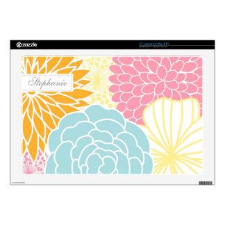 """Colorful Mod Florals 17"""" Laptop Decal"""