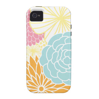Colorful Mod Florals iPhone 4 Cover