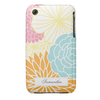 Colorful Mod Florals iPhone 3 Case-Mate Cases