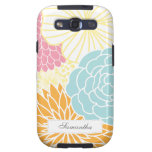 Colorful Mod Florals Galaxy S3 Cases