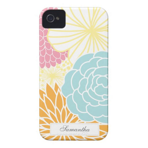 Colorful Mod Florals iPhone 4 Cases
