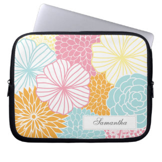 Colorful Mod Florals Laptop Computer Sleeves
