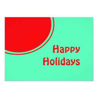 Colorful Mod Happy Holidays Card