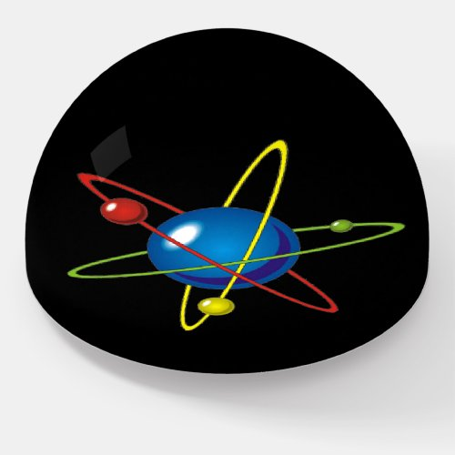 Colorful Model of the Atom Paperweight