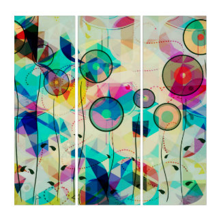 Colorful Modern Abstract Art Triptych