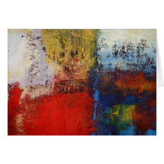 Colorful Modern Abstract Artwork Card